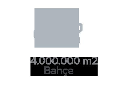 4.000.000 m2 Bahçe